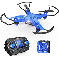 DROCON 901H Scouter Foldable Mini RC Drone for Kids Quadcopte with Altitude Hold 3D Flips and Headless Mode Easy Fly for Beginners, Blue