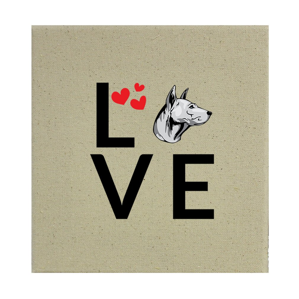Style in Print Stretched Natural Canvas Love Hearts Thai Ridgeback Dog 8''X8'' by Style in Print