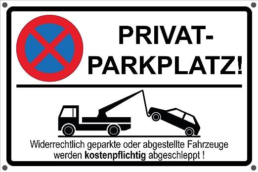 Privado Aparcamiento señal de prohibido aparcar parkverbot ...