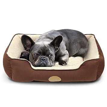 Amazon.com: Cama para mascotas Insten con acolchado ...