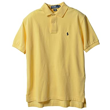 3d42e5e7 Ralph Lauren Mens Mesh Rugby Polo Shirt Yellow L at Amazon Men's ...