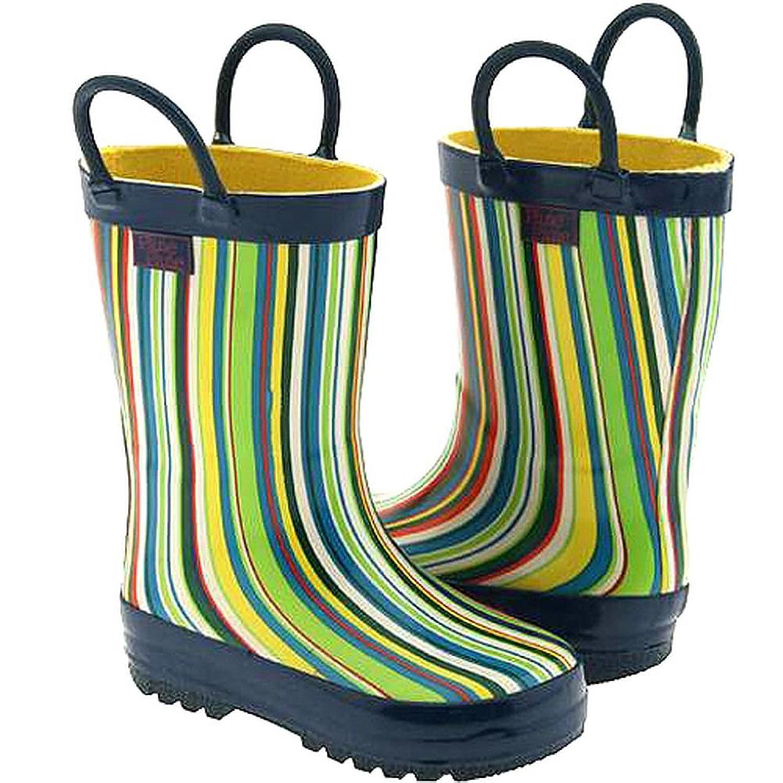 Pluie Pluie Toddler Little Girls Blue Stripe Rain Boots 5-2