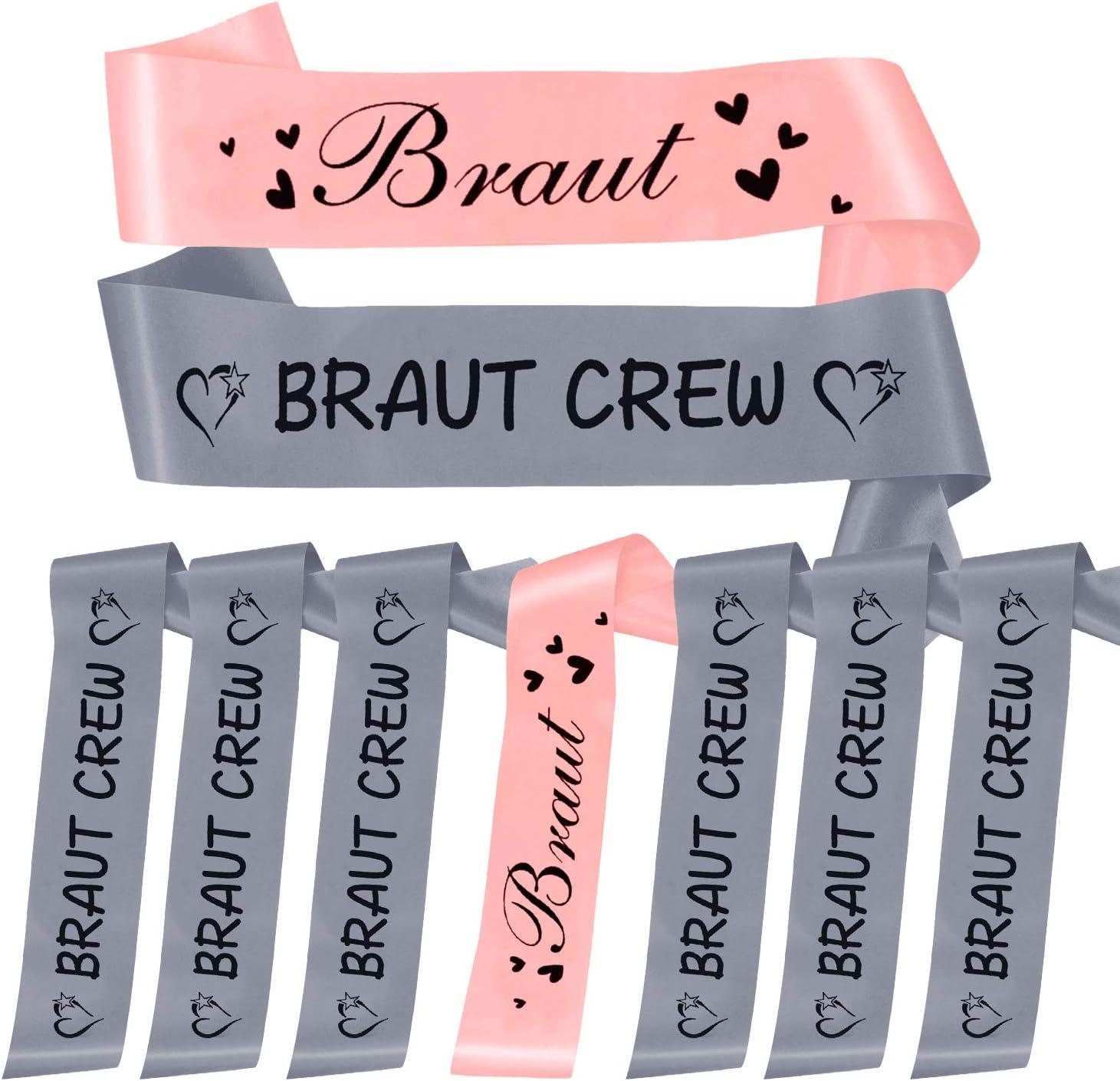 Oblique-Unique Sch/ärpe Braut Security Hochzeit Geburtstag 18 w/ählbar Braut Crew - Grau Flieder