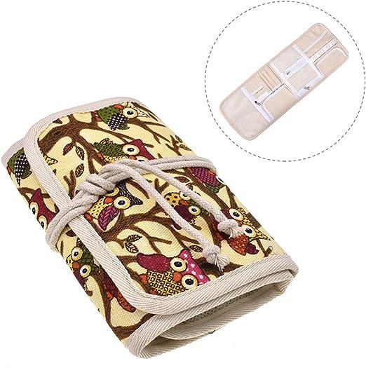 Estuche de ganchillo, bolsa de almacenamiento de viaje para diversas agujas de ganchillo y accesorios, ligero y todo en un lugar, fácil de transportar (no incluye accesorios): Amazon.es: Hogar