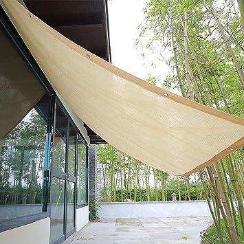 Malla De Sombra Vela De Sombra Toldo Parasol,tasa De Sombreado 90%,Malla Sombreadora Malla Red Resistente A UV Bloqueador Solar Sombra Paño para Jardín/carport/Planta,Beige: Amazon.es: Hogar