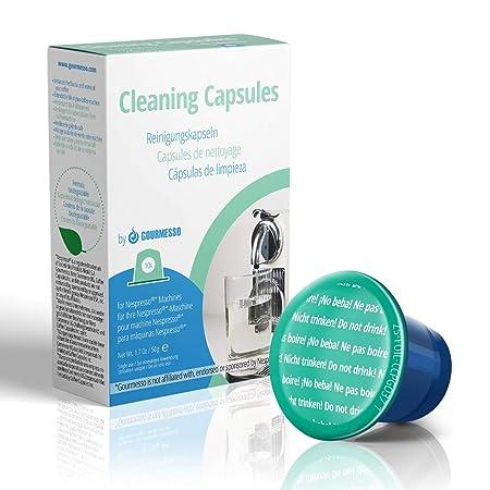 Gourmesso Cápsulas de Limpieza – 10 Cápsulas Compatibles para Limpiar su Máquina Nespresso ®* (10 Capsulas)