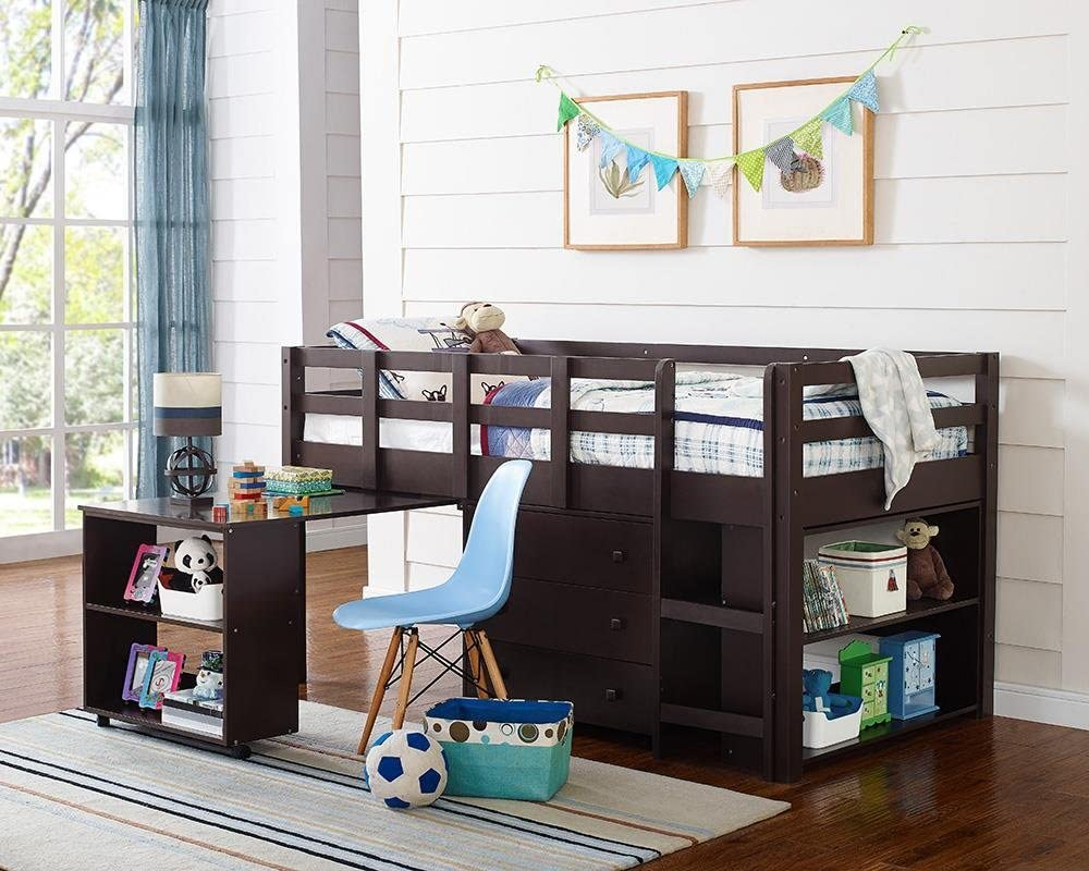 Best for Budget: Naomi Home Low Study Loft Bed