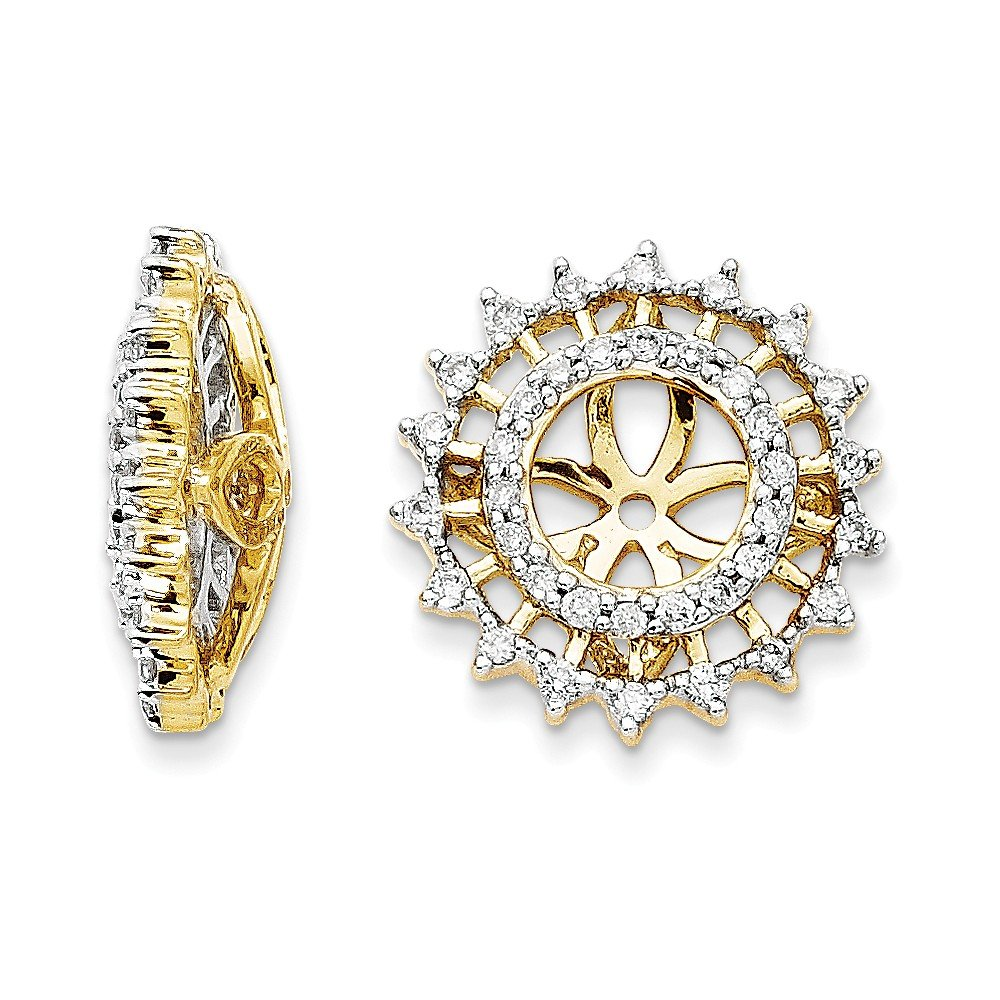 14k Yellow Gold Diamond Earrings Jacket Fine Jewelry Gifts For Women For Her