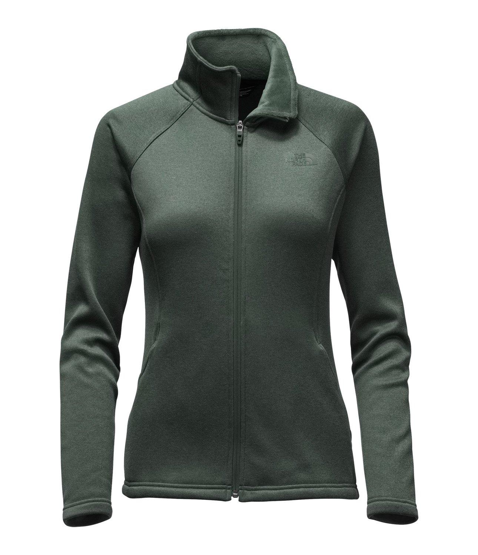 The North Face Women's Agave Full Zip Darkest Spruce Size Medium