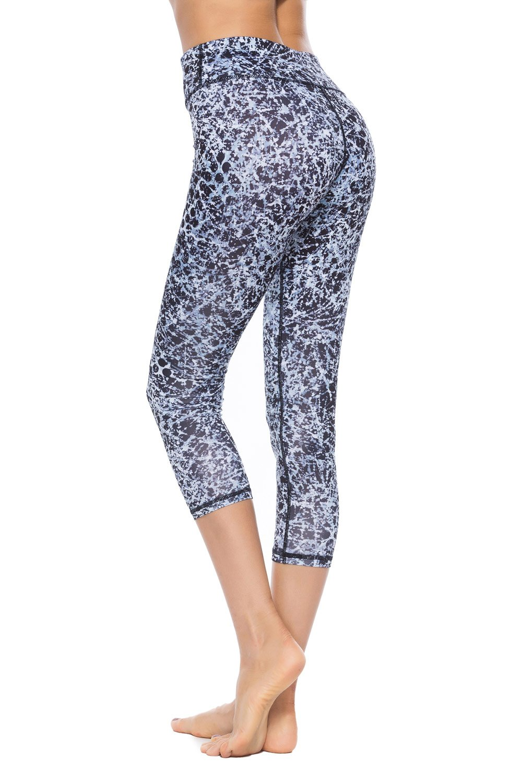 SOUTEAM Women High Waist Pocket Leggings Stretchy Watercolor Teens Sports Yoga Leggings