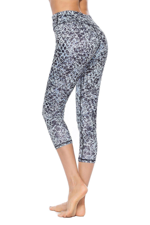 SOUTEAM Women Printed Pattern Leggings Teens Youths High Waist Pocket Capri Pants S170135-new