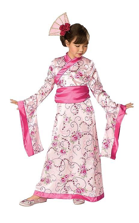 d370d87b0b Amazon.com  Let s Pretend Child s Asian Princess Pink Kimono Costume ...