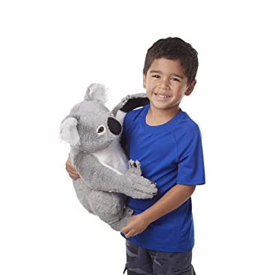 Melissa & Doug Lifelike Plush Koala Stuffed Animal (13.5W x 14H x 12D in): Toys & Games
