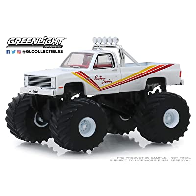 Greenlight 1:64 Kings of Crunch Series 5 - Southern Sunshine - 1981 Chevrolet K20 Silverado Monster Truck 49050-D: Toys & Games