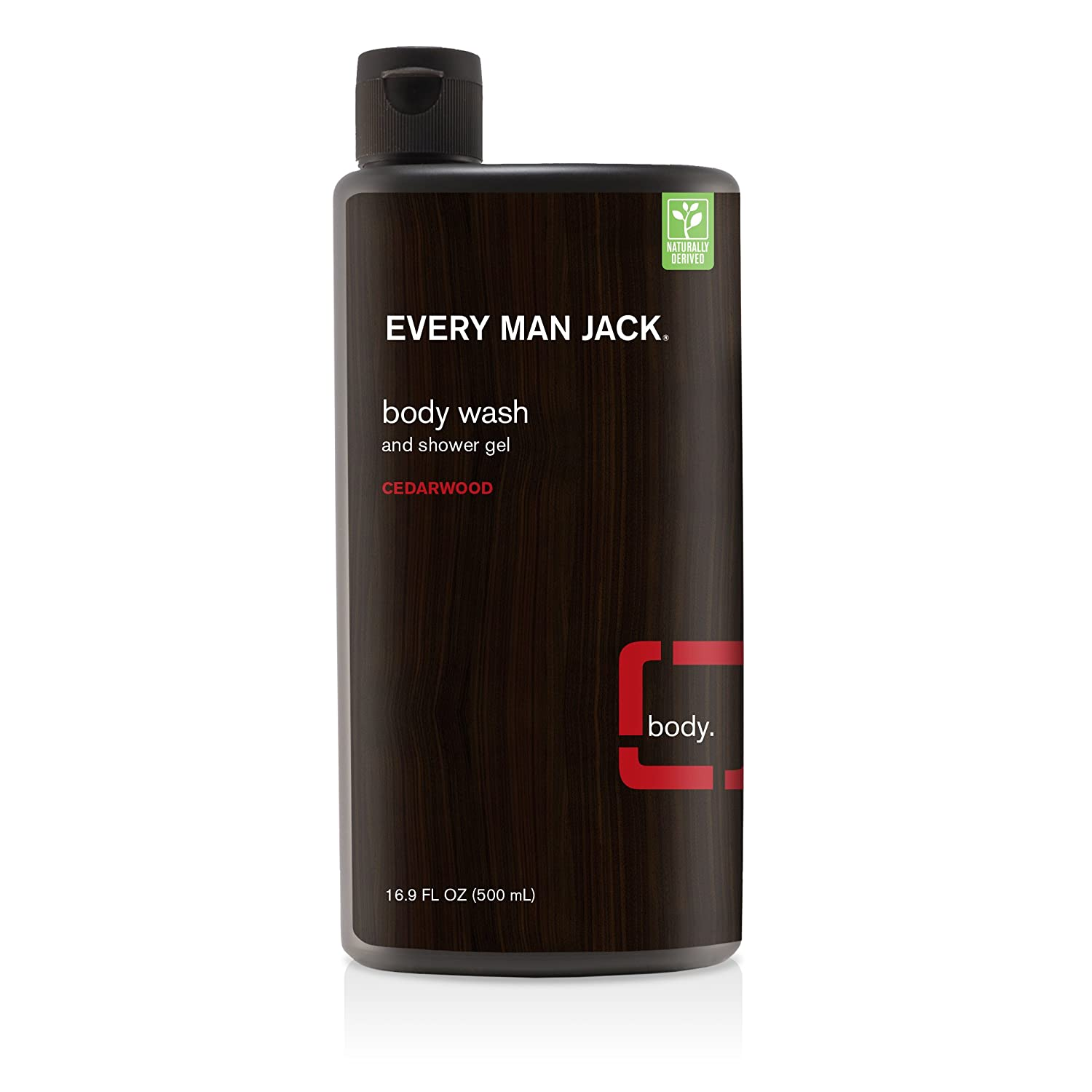 Every Man Jack Body Wash, Cedarwood, 16.9 Fluid Ounce Everyman Jack 878639000087