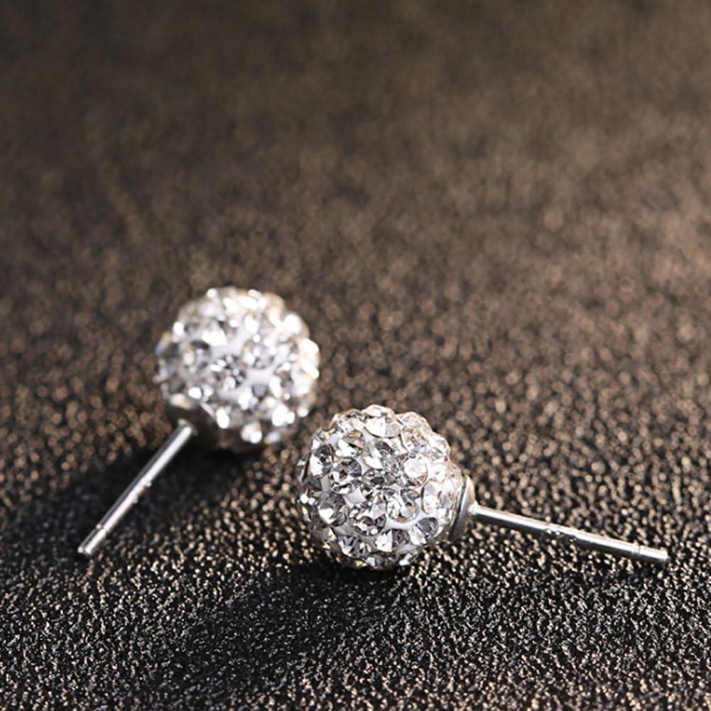 Pacco regalo Gilind argento 925 Discoteca palla collana e orecchini set per le donne