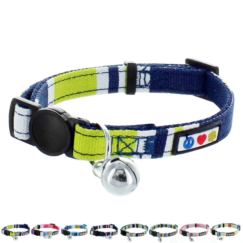 Pawtitas Pet Soft Adjustable Multicolor Cat Collar