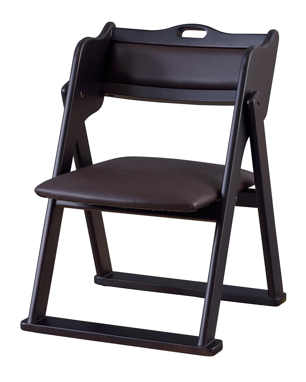 AZUMAYA お座敷チェア 折りたたみ式 安定性の高い太い脚 座りやすい低め座面 ブラックBC-510BK B06XXD64YQ