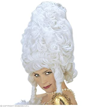 Peluca de estilo barroco rococó Maxi blanco
