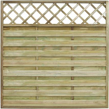 Lingjiushopping Panel Cuadrado de Valla para Jardin 180 x 180 cm Madera Material: Madera Verde de Pino impregnada (Resistente a podredumbre): Amazon.es: Jardín