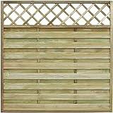 vidaXL Pannello recinzione quadrato da giardino con tralliccio legno 180 x 180cm