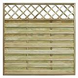 vidaXL Pannello recinzione quadrato da giardino con tralliccio in legno 180 x cm
