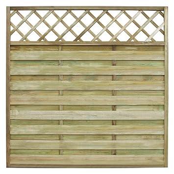 vidaxl panel cuadrado valla cercado para jardn con enrejados 180x180cm madera - Vallas Madera Jardin