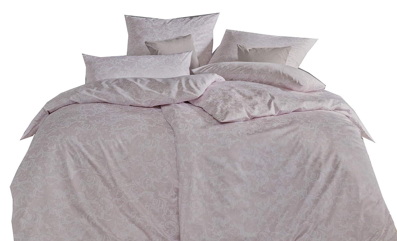 Estella Satin De Luxe Bettwäsche 3 teilig Bettbezug 135 x 200 cm Kopfkissenbezug 80 x 80 cm + 40 x 80 cm Madita 1085031-070 Rosenholz