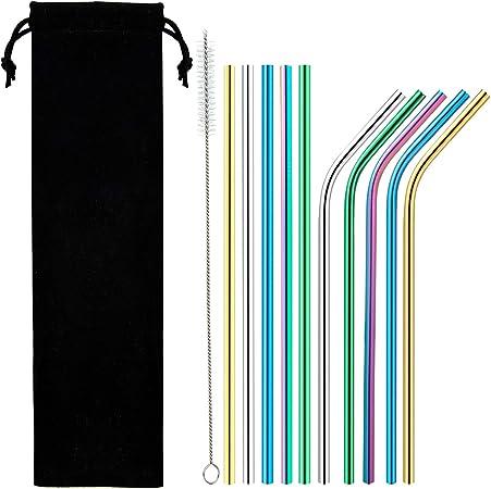 Nettoyer Brosse Acier Inoxydable 4PCS paille Extra Large 12 mm Réutilisable pailles