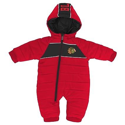 7e800faca52 Outerstuff NHL Chicago Blackhawks Newborn   Infant Puck Drop Puffer  Bodysuit
