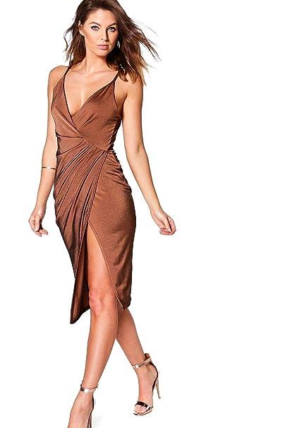 Cobre 38Amazon Marrón es Mujer Yourprimeoutlet Para Vestido 8POXwn0k