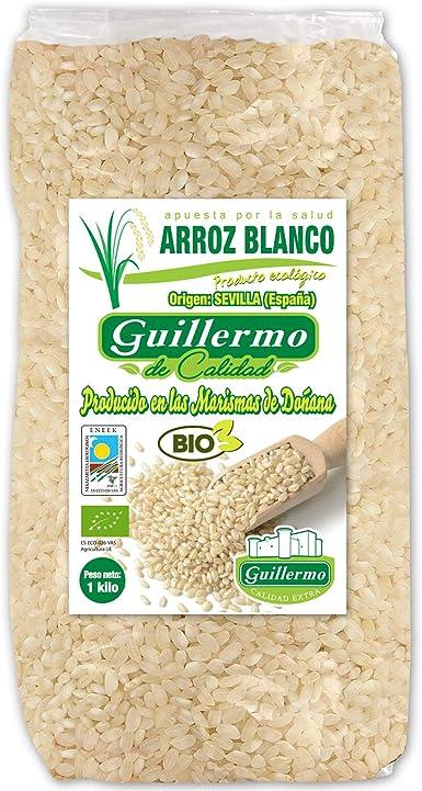 Guillermo Arroz Blanco Redondo Ecológico BIO Marisma de Doñana para paellas y risottos 100% Natural 1000gr: Amazon.es: Alimentación y bebidas