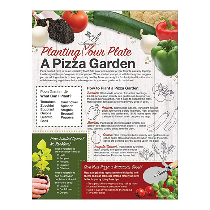 Amazon com : School Garden Handout Tearpad | Planting Your Plate
