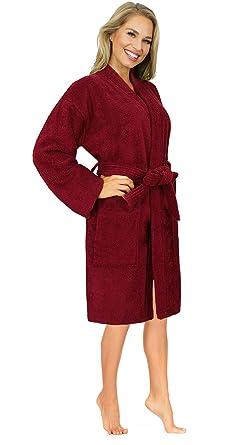 ec4f0cefa3 Indulge Linen Terry Kimono Turkish Bathrobe Spa Make-Up Body Wrap for Women    Unisex