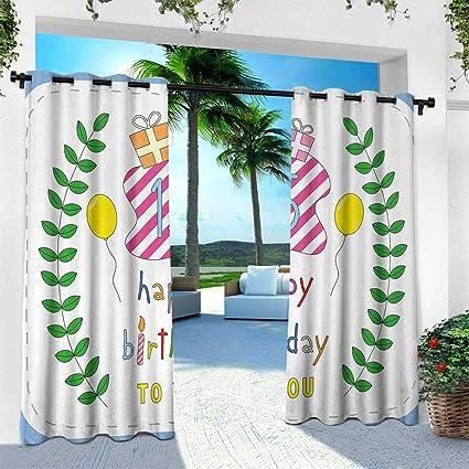 Amazon.com: Hengshu 13º cumpleaños, cortina con ojales ...