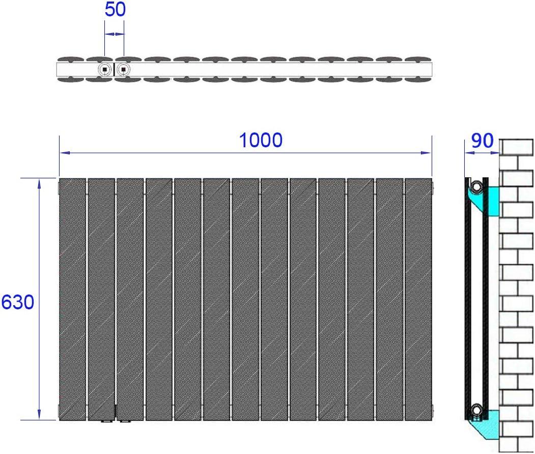 Ventil-Armaturen Set Multiblock Hahnblock mit Thermostat M30x1.5mm f/ür Heizk/örper Anschlussarmatur Universal f/ür Eck und Durchgangsform 50mm Chrom