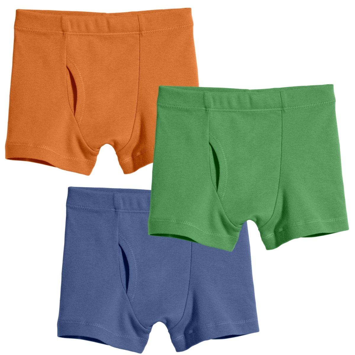 City Threads Big Boys Organic Cotton Boxer Brief for Sensitive Skin and SPD Sensory Friendly Clothing, 3Pack Boy, 10