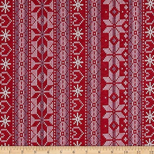 Jersey Knit Print Fabric - Fabric Merchants Cotton Jersey Knit Nordic Print, Nordic