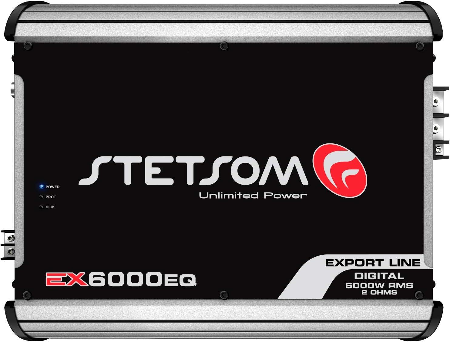 Stetsom EX 6000 EQ 2 Ohms Class D Full Range Mono Amplifier