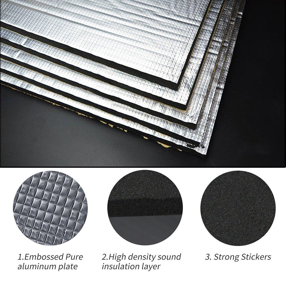 Guteauto 236 mil 15 sqft Sound Deadening Deadener Insulation Mat Automotive Deadener Wall Soundproofing Foam Panels 55'' x 39''
