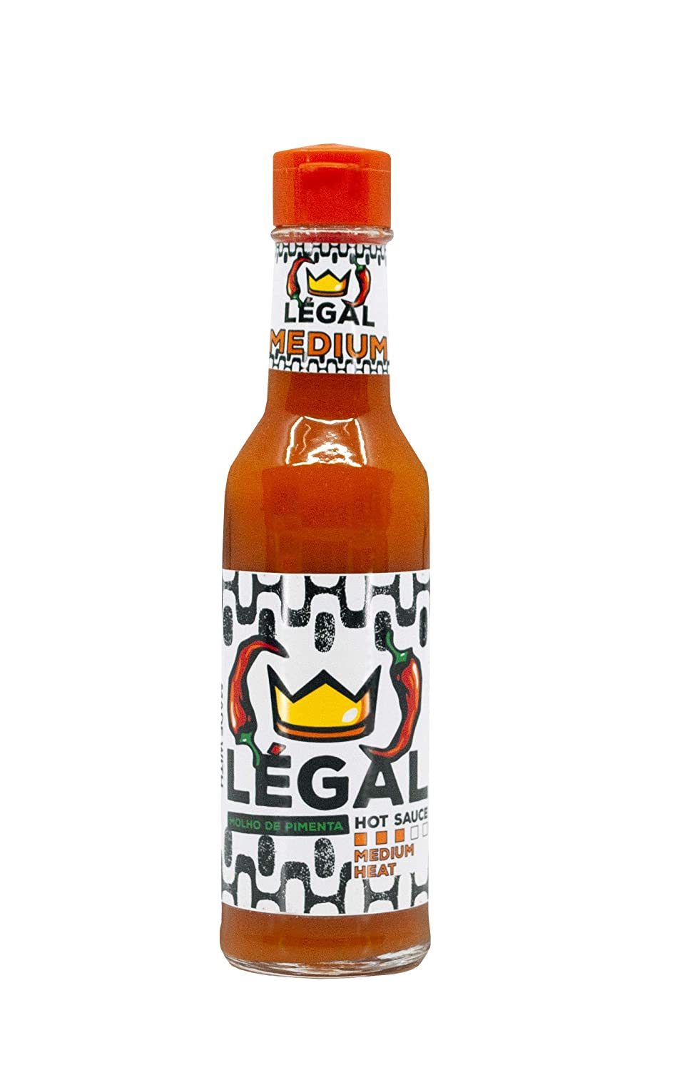 MEDIUM SPICE 1 Pack - Hot Sauce Bottles - Hot Sauces - Natural Hot Sauce - Brazilian Hot Sauce - Keto Hot Sauce - Paleo Hot Sauce - Vegan Hot Sauce - Malagueta Pepper Sauce - LÉGAL HOT SAUCE