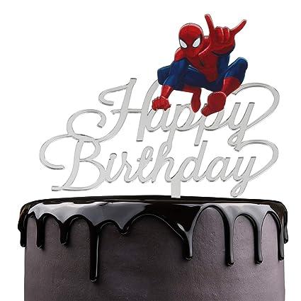 Decoración para tarta de cumpleaños con diseño de dibujos ...
