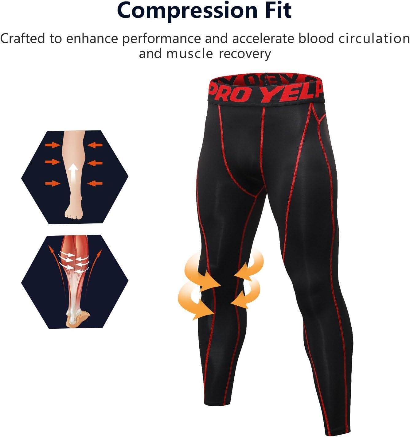 Collant Running pour Jogging Athletisme Football Cyclisme Course Gym Tenue de Sport Fitness Compression Surv/êtement,Shirt Compression