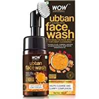 WOW Skin Science Ubtan Foaming Face Wash with Built-In Face Brush for deep cleansing - No Parabens, Sulphate, Silicones & Color - 100mL