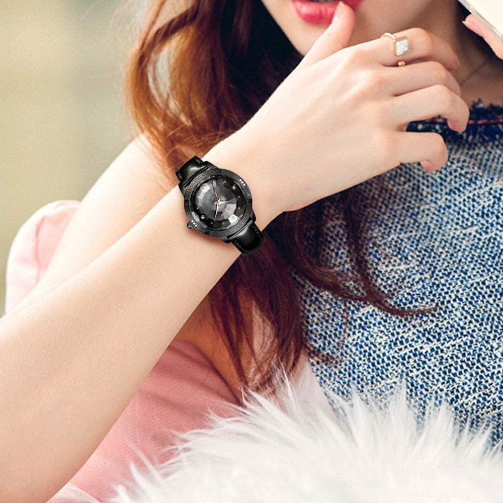 LZRDZSW Orologio al quarzo da donna, impermeabile, alla moda, semplice e casual, semplice da indossare Stile B. Stile B.