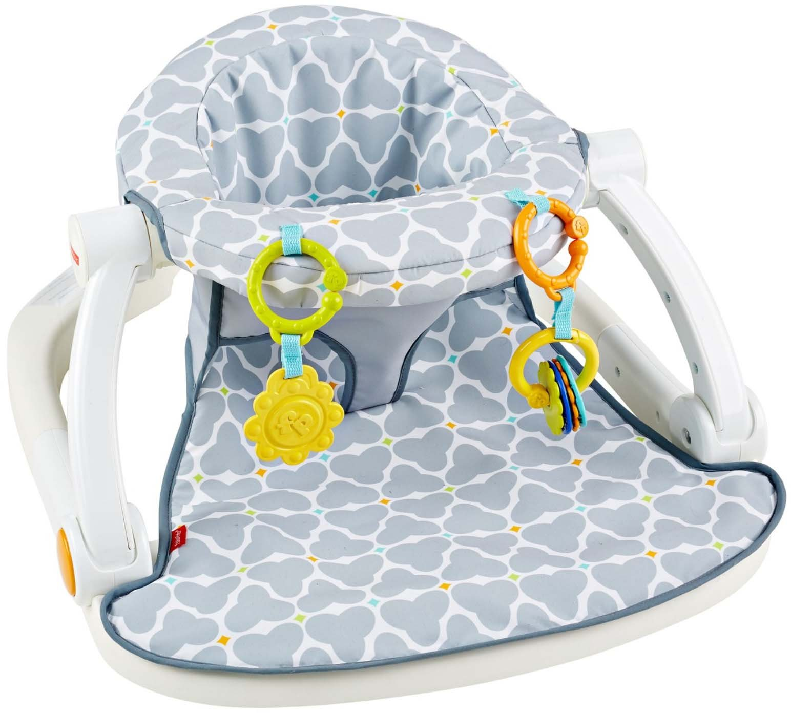 Fisher-Price Sit-Me-Up Floor Seat, Silver Platter