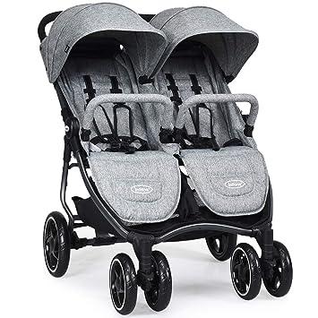 Amazon.com: INFANS cochecito doble, ligero y fácil de plegar ...