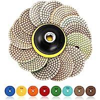 SPTA 15 st diamant slipplattor för våt poleringsplatta, 4 tums dynor för granitsten-, betong-, marmorgolv slip eller…