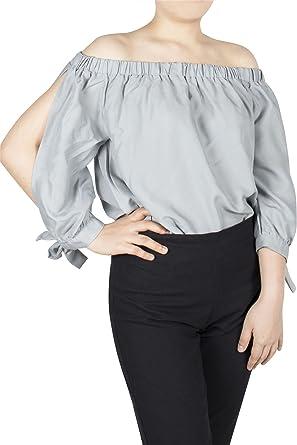 Lofbaz Camisetas SIN Hombros DE Mujer DE VANGUARDIA 100% DE RAYÓN Blusas DE Verano – Camisetas Suaves Y Ligeras para Mujeres