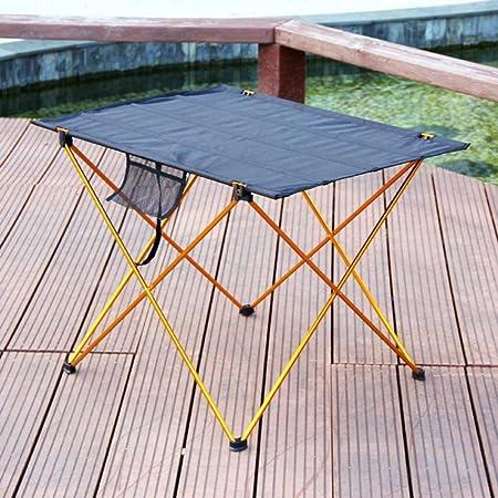 XDHN Muebles Plegables Mesa mesas de jardín de Aluminio de ...